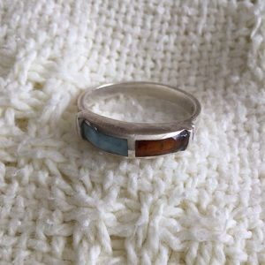 Jewelry - Sterling Ring With Native Gems
